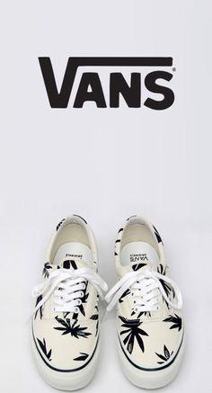 shoes, vans, marijuana leaf, marijuana print - Wheretoget