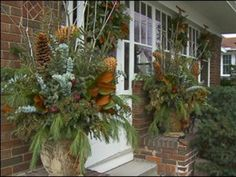 36 Awesome Outdoor Holiday Planter Ideas To Beauty Porch Décor trending Outdoor Christmas Planters, Christmas Urns, Outdoor Planters, Outdoor Christmas Decorations, Christmas Arrangements, Floral Arrangements, Christmas Wreaths, Merry Christmas, Spruce Tips