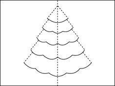 Eine Popup Karte für einen Weihnachtsbaum basteln                                                                                                                                                                                 Mehr