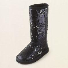 sequin chalet boot