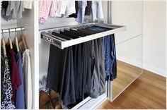 Sliding pants rack by Bob Villa