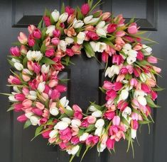 Tulip wreath - perfect for spring!