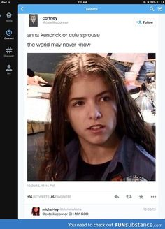 "...That's Anna Kendrick... Obviously. Cole Sprouse may look similar but the eyes, eyebrows, mouth, and more feminine shape of the face give it away. I don't see why this is an ""Oh my God"" moment... Aren't ordinary people adorable...."