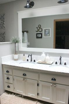Photo Of DIY Farmhouse Master Bathroom Makeover We ure sharing our DIY Farmhouse Master Bathroom Reveal The results are amazing If you are in need of bathroom