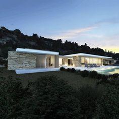 Villa e - Saint-Tropez: Maisons de style de style Moderne par ARRIVETZ & BELLE