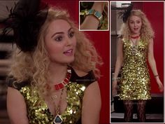 Carrie's gold sequin dress on The Carrie Diaries