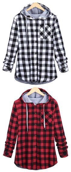Take it, $22.99  Now! 7-Day Shipping Time! Easy Return + Refund! Get ready to stun everyone in this Take A Hike Plaid Hooded Top! This top has all the wow factors in the details-classic plaid pattern and a lovely hood. Save more pieces at Cupshe.com