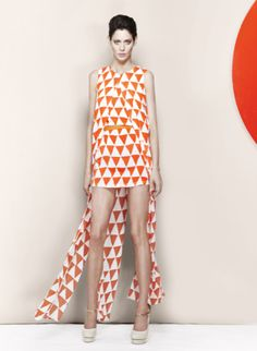this dress is a great example of rhythm through repeating patterns.