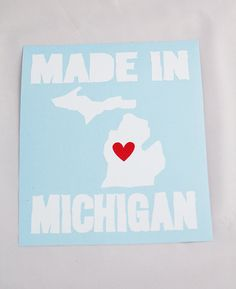 Made In Michigan Roller Derby Helmet / Car / Vinyl Sticker / Bumper Sticker