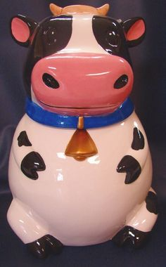 Sitting Cow Cookie Jar