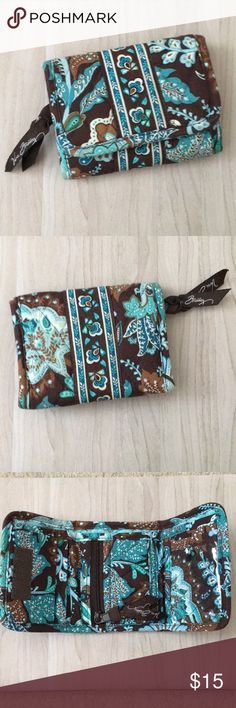 Vera Bradley Wallet •Java Blue• This wallet is in great condition. There is a small smudge on the ID holder plastic as shown in the picture. Vera Bradley Bags Wallets