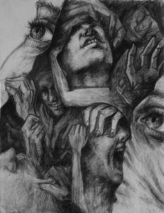Images of depression drawings - Art Sketches, Art Drawings, Pencil Drawings, Pencil Art, Look Wallpaper, Illustration Design Graphique, Mental Health Art, Art Tumblr, Arte Horror