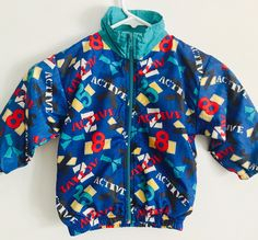 Hipster Windbreaker Jacket, Childrens Jackets, Boys Windbreaker, Girls Windbreaker, Vintage Windbreaker by ResouledGypsy on Etsy