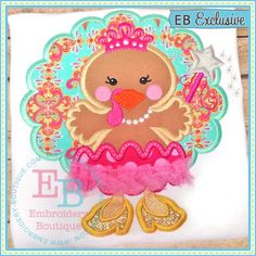 Princess Turkey Applique--CUTE!