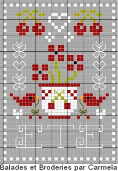 Op het blog van Carmela, Balades & Broderies , zag ik zojuist dit schattige patroontje. Perfect om een pinkeep van te maken! Er staat été op...