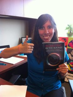 Britt Thomas has her copy of Marketing in the Round!