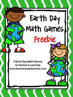 FREEBIE for Earth Day - two printable Earth Day Math Board Games from Games 4 Learning.