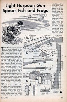 Light Harpoon Gun Spears Fish and Frogs | Modern Mechanix