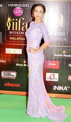 16b48f47b45b5 Malaika Arora Khan on the  IIFARocks 2015 green carpet.  Bollywood  Fashion