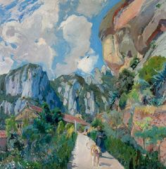 Joaquim Mir Trinxet 華金,米爾 Spanish Painters, Spanish Artists, Abstract Landscape, Landscape Paintings, Lawrence Lee, Montserrat, First Art, French Art, Gravure