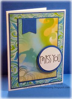 airbornewife's stamping spot: MISS YOU and I MISS YOUR FACE card/card lot *w/measurements