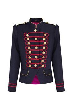 Beatle Azul y Rojo Military Jacket
