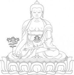 Yoga and Meditation Coloring Book for Adults with Yoga Buddhist Wheel Of Life, Buddhist Art, Adult Coloring, Coloring Books, Coloring Pages, Ganesha, Buddha Tattoo Design, Thangka Painting, Tibetan Art