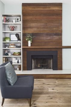 Modern Built In Fireplace . Modern Built In Fireplace . Custom Modern Wall Unit Made Pletely From A Printed Fireplace Update, Farmhouse Fireplace, Home Fireplace, Fireplace Remodel, Living Room With Fireplace, Living Room Decor, Fireplace Ideas, Rustic Farmhouse, Reclaimed Wood Fireplace