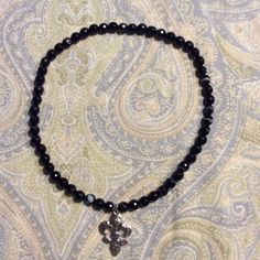 Fleur-de-lis Banded Agate Necklace - pinned by pin4etsy.com