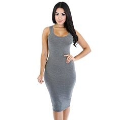 Mojessy Women's Sleeveless Casual Bodycon Bandage Tank Mi...  Srd 175