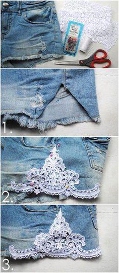 aplicacion en short jeans