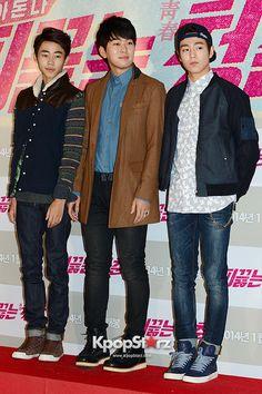 Park Ji Bin, Kwak Jung Wook and Lee Hyun Woo at the VIP Premiere of Upcoming Film 'Blood Boiling Youth' - Jan 20, 2014 [PHOTOS] : Photos : KpopStarz
