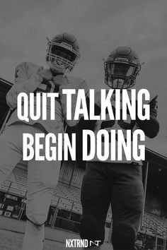 The way to get started is to quit talking and begin doing. #FootballQuotes #SportQuotes #Motivation #Inspiration #Football #Nxtrnd Best Football Quotes, Football Motivation, Motivational Quotes For Athletes, Nba Wallpapers, Mouth Guard, Sport Quotes, Motivation Inspiration, Beast, Coaching