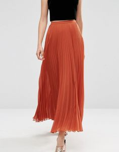 Buy ASOS Pleated Maxi Skirt at ASOS. With free delivery and return options (Ts&Cs apply), online shopping has never been so easy. Get the latest trends with ASOS now. Asos, Pleated Maxi, Fashion Online, Bridal, Skirts, How To Wear, Amazing, Party, Image