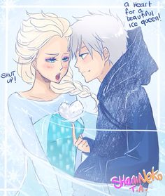 Jack Frost and elsa. happy valentine's day!