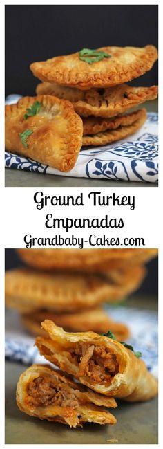 Ground Turkey Empanadas | Grandbaby-Cakes.com