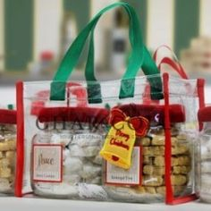 Clear Tote with Cookies Jar - Christmas Bells