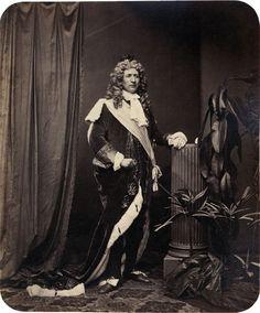 """Portrait of Participant of the 'Märchenball' von """"Jung-München"""" in Costume. 1862"""