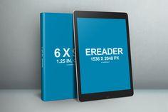 6x9 Book eReader iPad PSD template Mockup