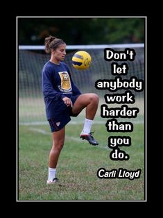 Girls Soccer Motivation Poster, Hard Work Quote, Coaching Wall Decor, Daughter Inspiration Wall Art featuring Carli Lloyd and a compelling message. Its a lasting gift with a lasting message. It will certainly please and motivate any. Soccer Pro, Soccer Memes, Girls Soccer, Soccer Cleats, Soccer Socks, Soccer Stuff, Volleyball, Nike Soccer, Football Humor
