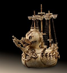 Ivory style Ducky duck pirate ship. via Etsy.