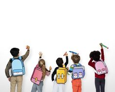 Classmates friends bag school education Premium Photo