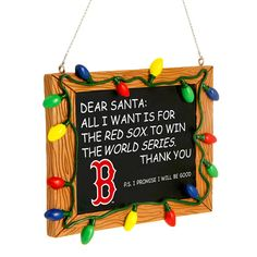 Boston Red Sox Resin Chalkboard Sign Ornament - MLB.com Shop