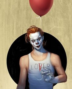 Pennywise mixed with bill skarsgård