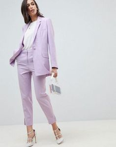 Find the best selection of ASOS DESIGN curve fluro pink suit blazer. Shop today with free delivery and returns (Ts&Cs apply) with ASOS! Business Outfit Frau, Business Outfits, Office Outfits, Purple Suits, Pink Suit, Asos, Lavender Outfit, Suits For Women, Clothes For Women