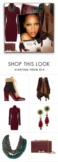 """""""Outfit of the Day"""" by fassionista ❤ liked on Polyvore featuring Laurence Dacade, Autumn Cashmere, Kenneth Jay Lane and Valentino"""