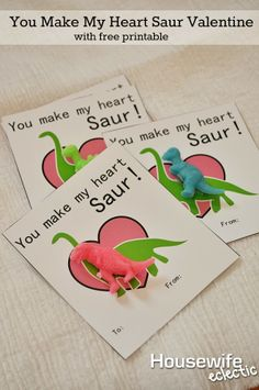 You Make My Heart Saur Valentine with Free Printable