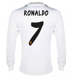 13/14 Real Madrid Manica Lunga Calcio Maglia # 7 RONALDO Maglia Bianca
