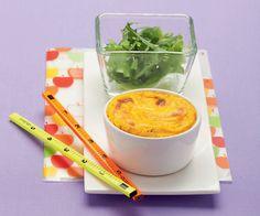 Flan di carote alle nocciole con insalatina mista