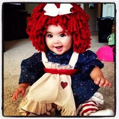Luluu0027s Halloween costume. Baby Halloween costume raggedy Ann  sc 1 st  Pinterest & Halloween 2012- Magic Jack vs Magic Mike. Baby Halloween Costume ...